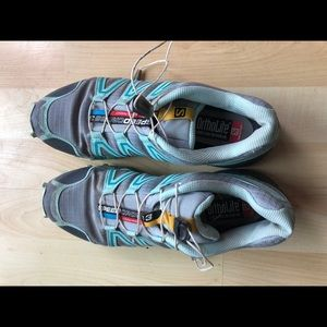 Salomon speed cross trail running shoes 8.5